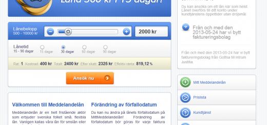 www.Meddelandelån.se