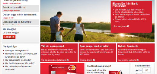 Bank Norwegian lån ränta