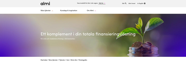 Vad har Almi Företagslån omdöme av tidigare kunder?