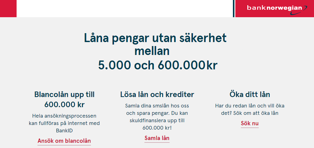 Bank Norwegian samarbetar med AXO Finans låneförmedlare