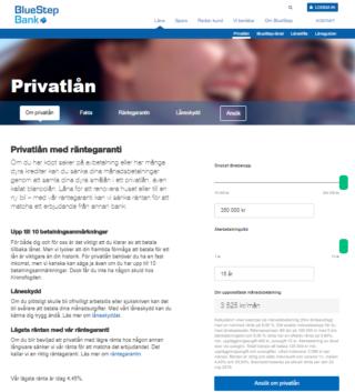 Bluestep bank privatlån erbjuder förmånliga privatlån till kunder i olika ekonomiska situationer!