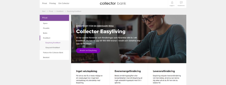 Hur fungerar Collector easyliving uttag?