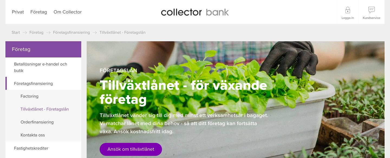 Collector tillväxtlån kontakt snabbt via telefon eller email!