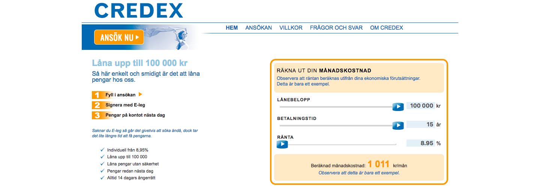Credex kontakt är tillgänglig via både email och telefon!