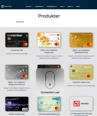 Entercard remember jobbar tillsammans för att ta fram det bästa kreditkortet för sina kunder!