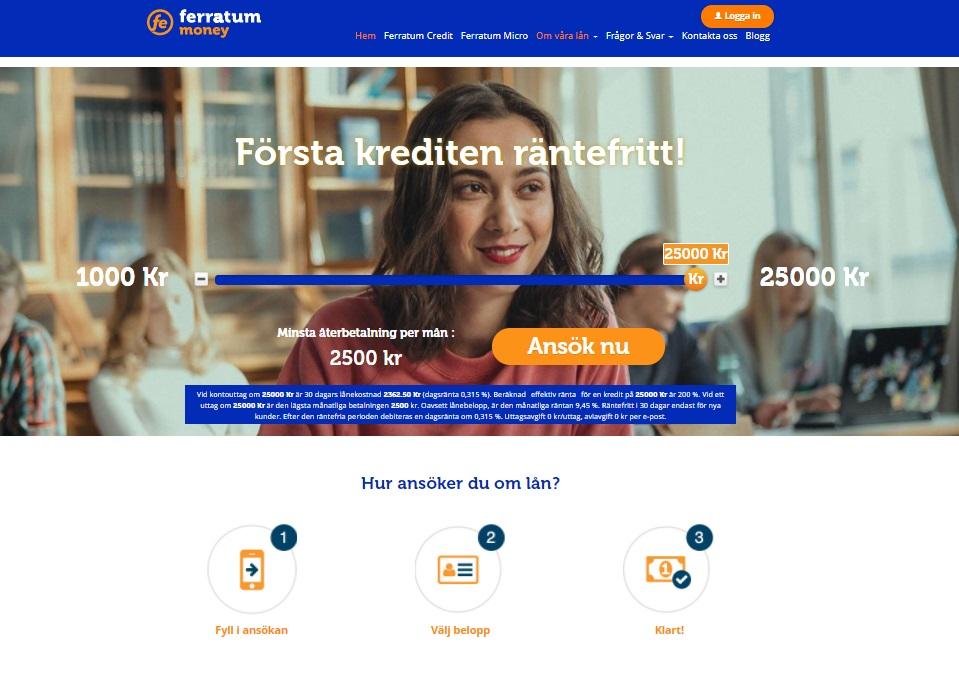 Ferratum Credit kredit lån hos Ferratum bank