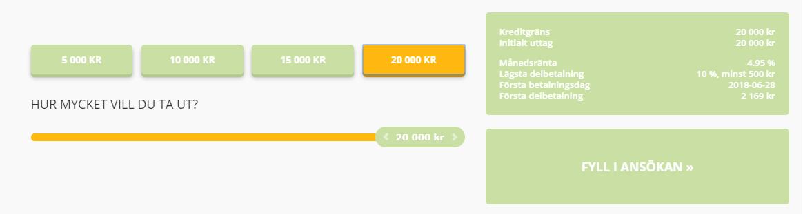 Flexkontot - kredit upp till 20 000 kr snabbt och enkelt!