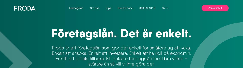 Froda Företagslån kontakt enkelt och snabbt via både telefon och email