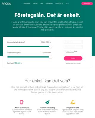 Vad har Froda Företagslån omdöme från tidigare kunder?