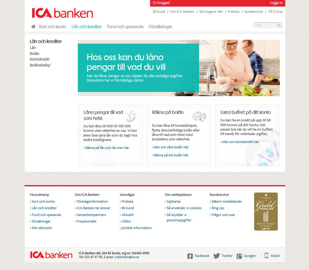 Lättare att få lån hos ICA Banken