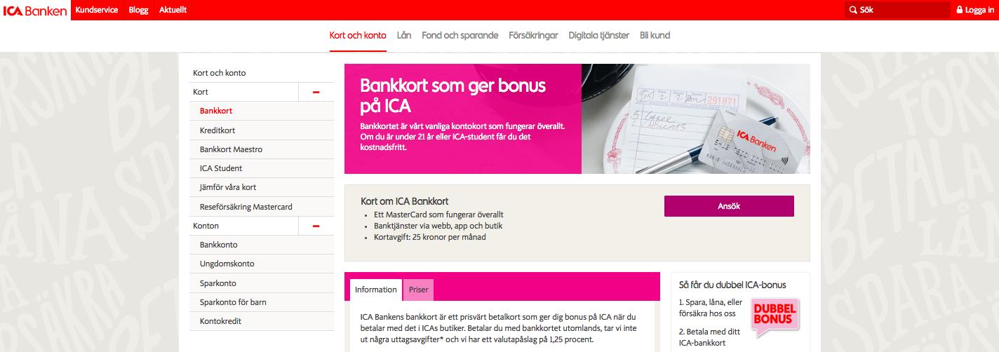 Har ICA bankkort reseförsäkring på sitt bankkort?