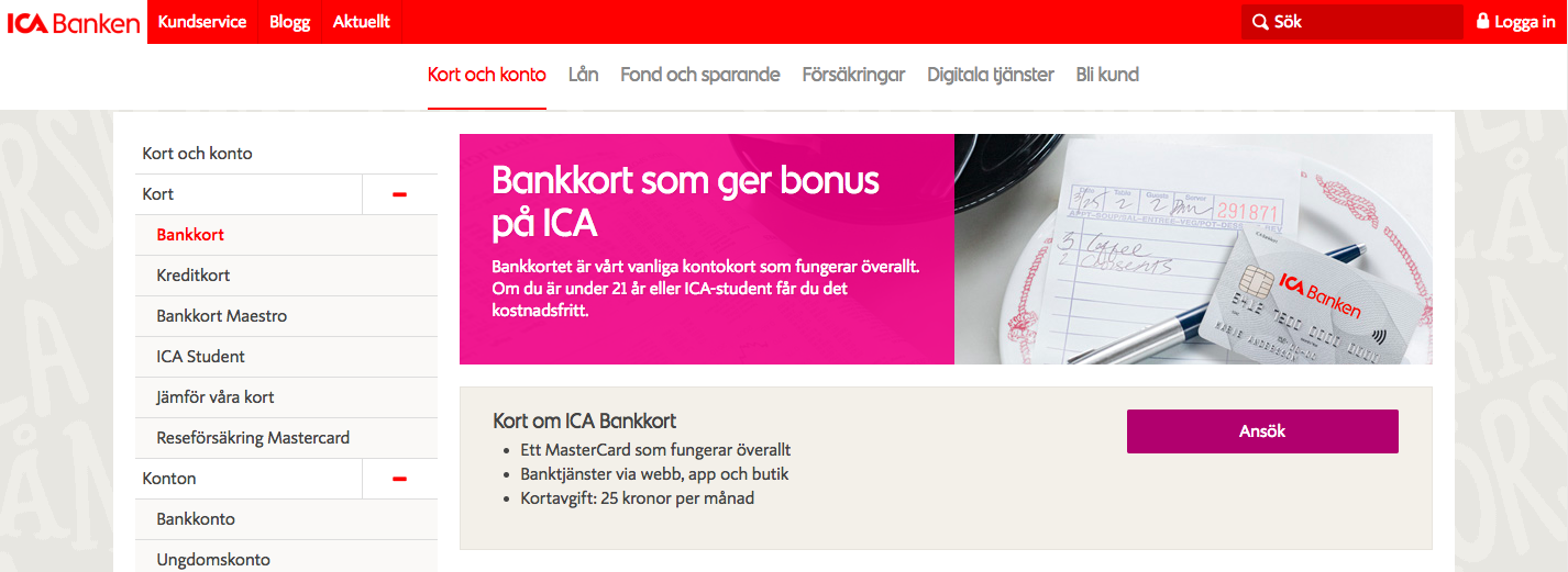 Fungerar ICA bankkort utomlands?