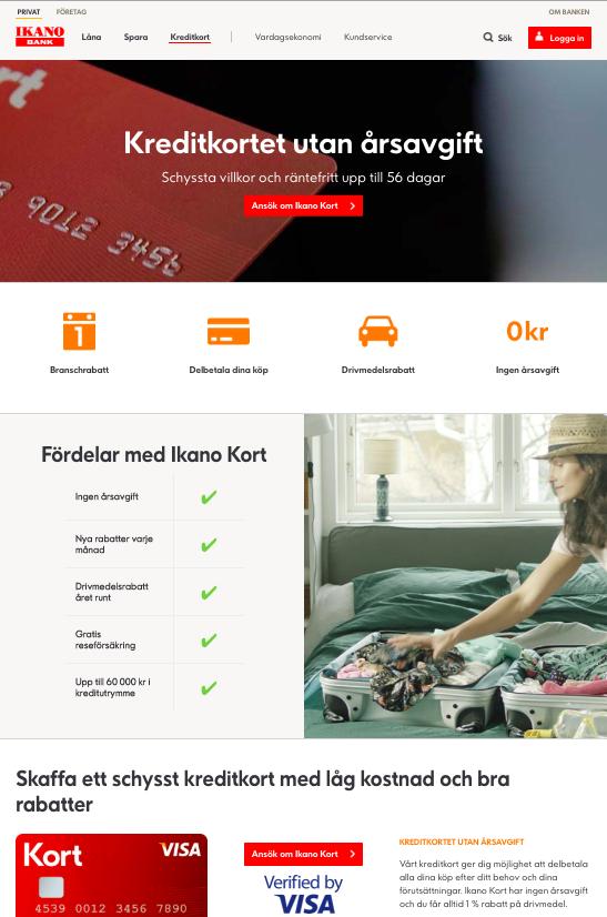 Ikano bank kreditkort visa är ett kreditkort som fungerar världen över!