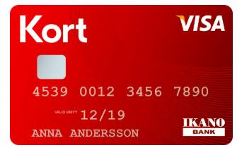 Med Ikano bank kan man skaffa sig ett kreditkort med kredit på upp till 60 000 kronor!