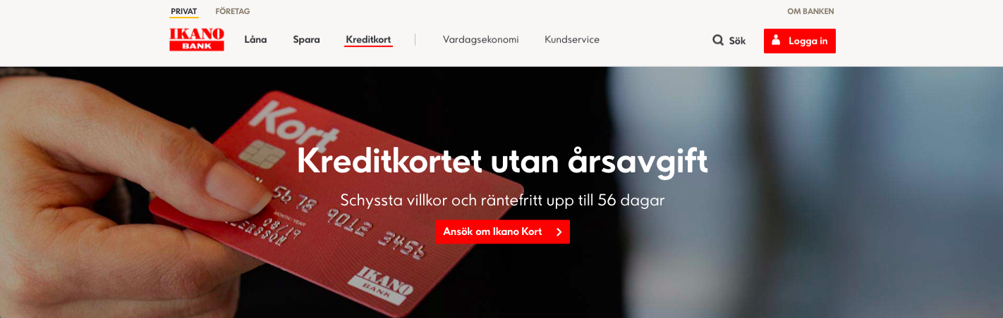 Ikano kreditkort aviavgift ligger på 25 kronor per månad!