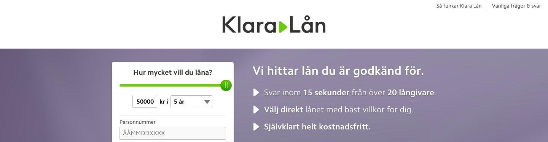 Vad har Klara Lån omdöme av tidigare kunder som har använt tjänsten?