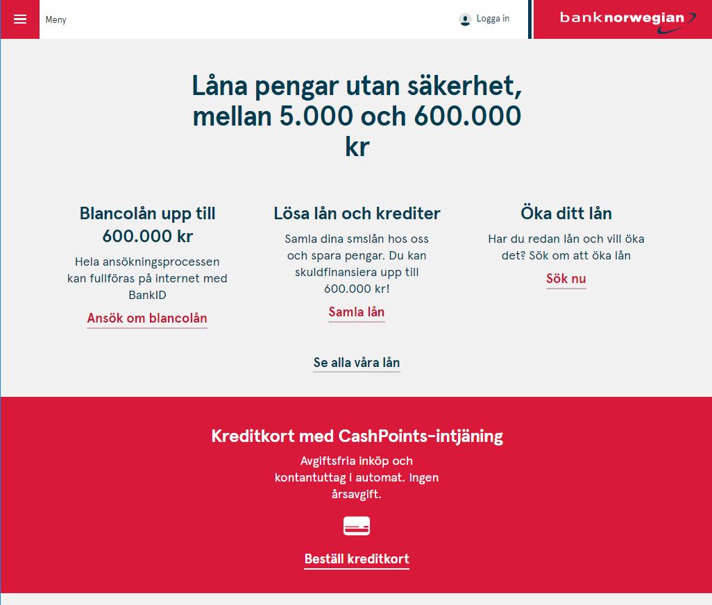 Låna 600 000 kr utan säkerhet hos Bank Norwegian - kreditgränsen har höjts rejält igen!