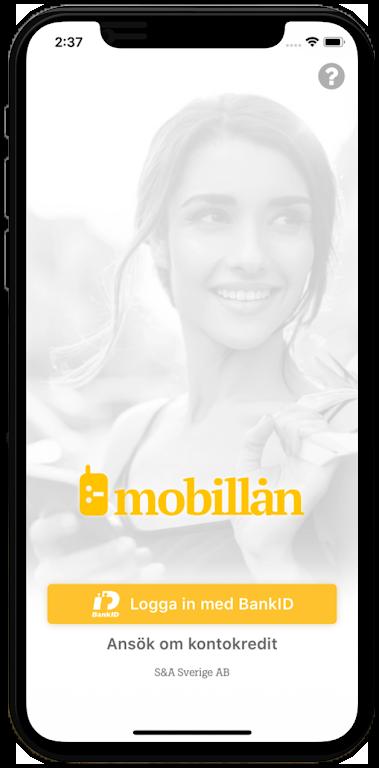Mobillån kontokredit app - uttag och utbetalning direkt direkt med mobilen!