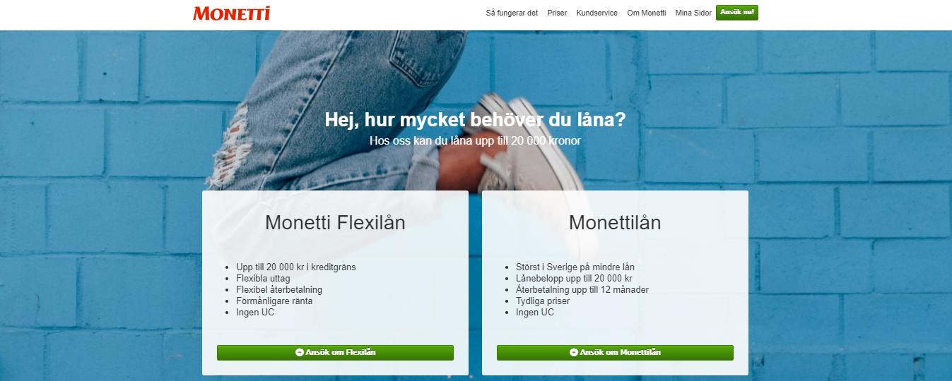 Monetti Flexi använder UC vid sina kreditupplysningar?