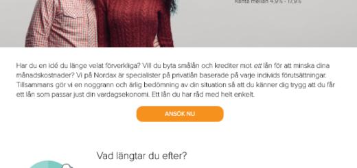 Nordax Bank AB erbjuder lån för kunder i olika ekonomiska situationer!