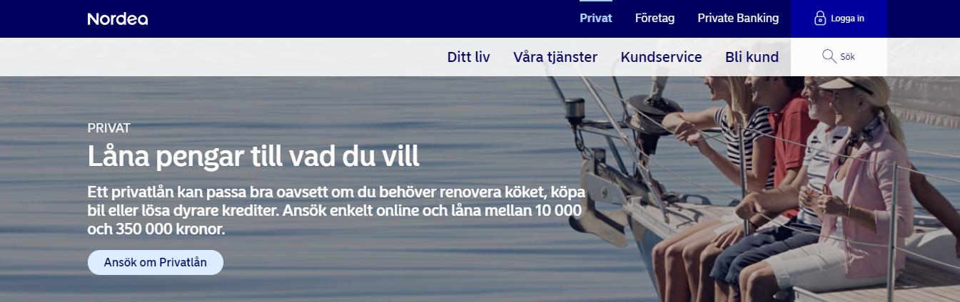 Nordea låna pengar tillgängligt för kunder i olika ekonomiska situationer!
