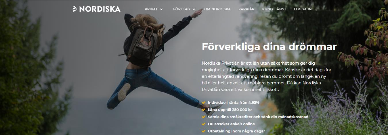 Tillåter Nordiska privatlån betalningsanmärkningar hos sina kunder?