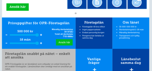 OPR Företagslån kontakt enkelt via både telefon och email!