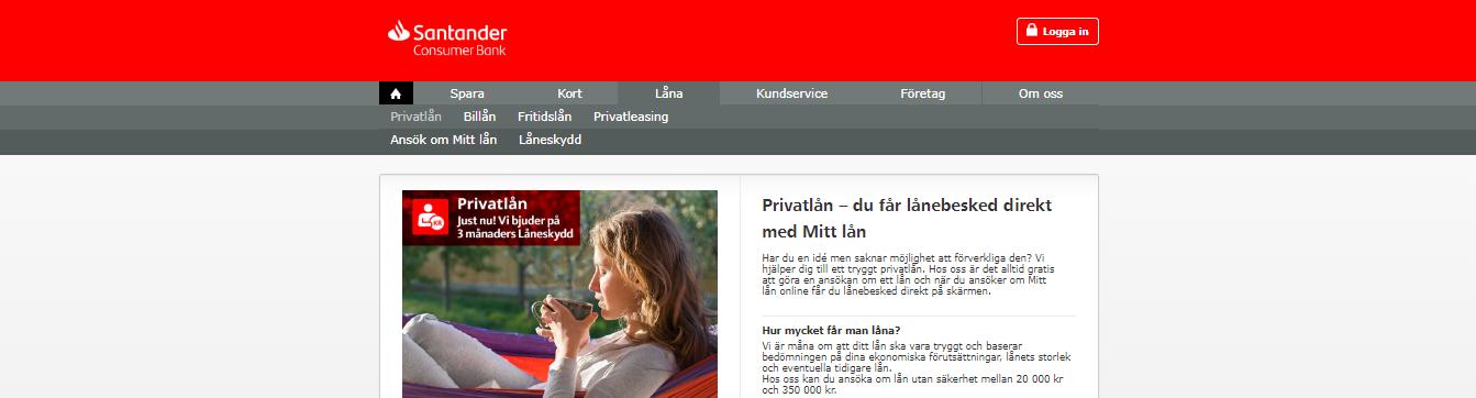 Santander bank kan man kontakta enkelt via telefon!