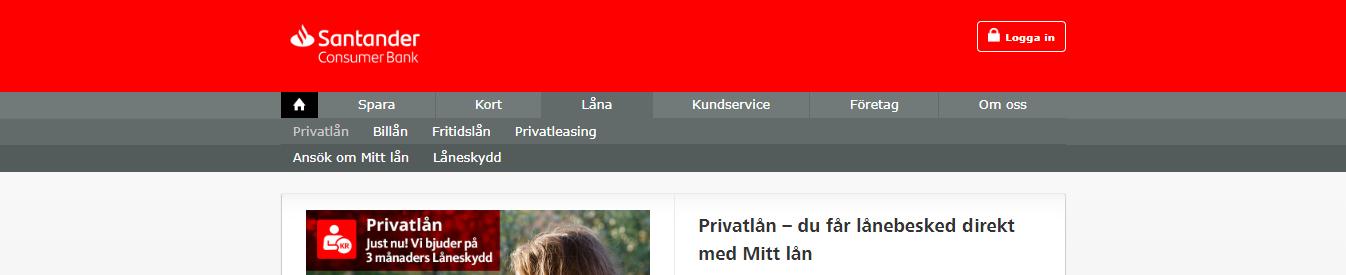 Santander bank har bra låneskydd som de erbjuder sina kunder!