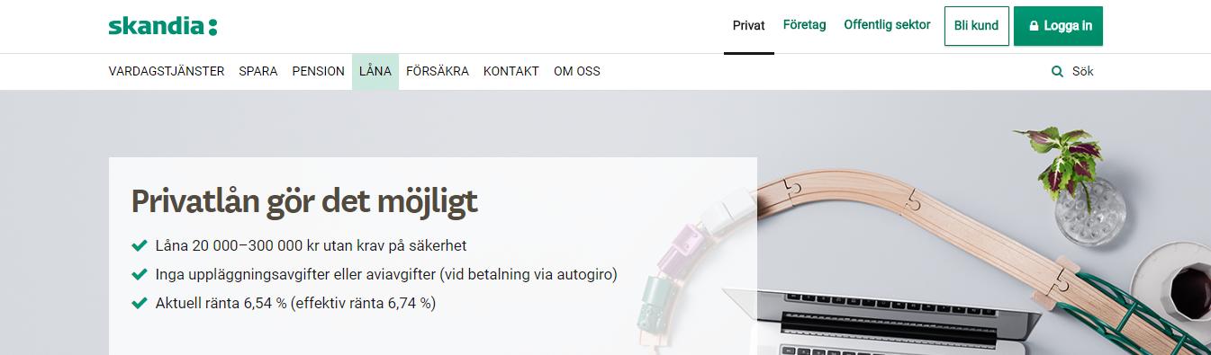 Skandiabanken använder BankID vid sina inloggningar för smidigare låneprocess!