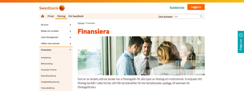 Swedbank företagslån kontakt via både telefon och online!