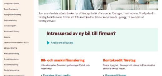 Vad har tidigare kunder gett Swedbank företagslån i omdöme?