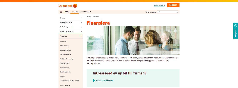 Använder Swedbank företagslån UC vid sina kreditupplysningar?