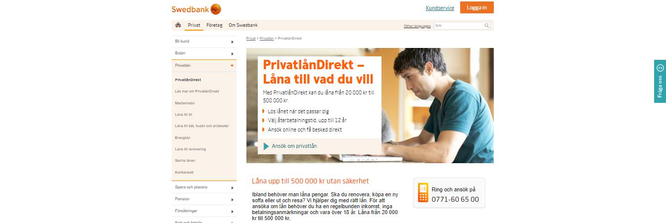 Swedbank kontakt enkelt via flera olika medium däribland deras telefontjänst dygnet runt!