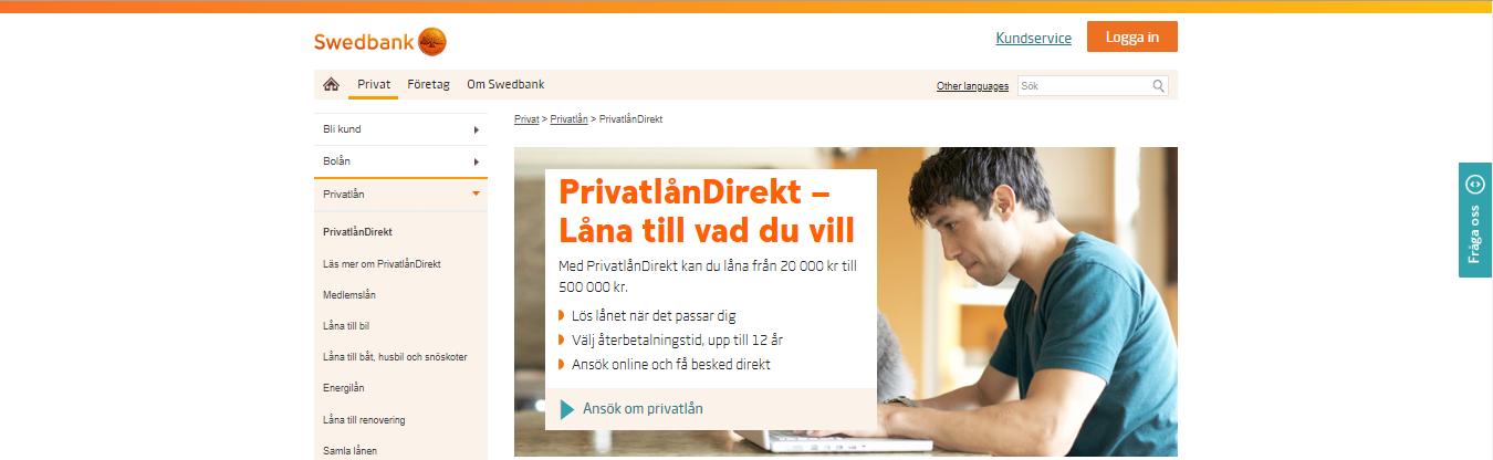 Swedbank privatlån hur snabbt får man sin utbetalning?