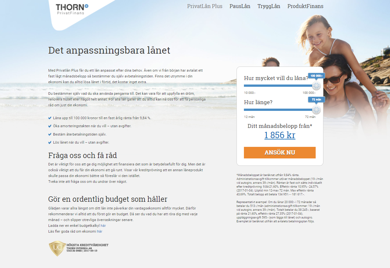 Thorn PrivatLån Plus