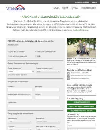 Villabanken logga in enkelt via hemsidan och sköt lånen över nätet!