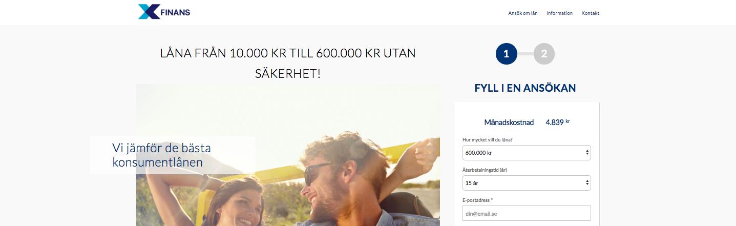 Kan man komma i kontakt med Xfinans email?
