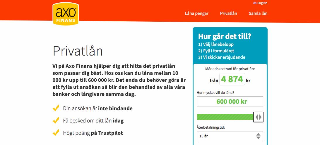 Axofinans erbjuder lån till folk i olika ekonomiska situationer!