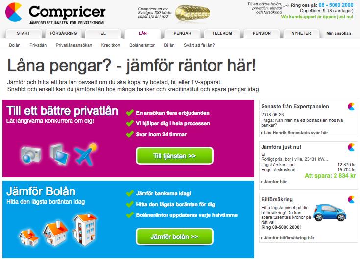 Använder sig Compricer av uc för sina kreditupplysningar?