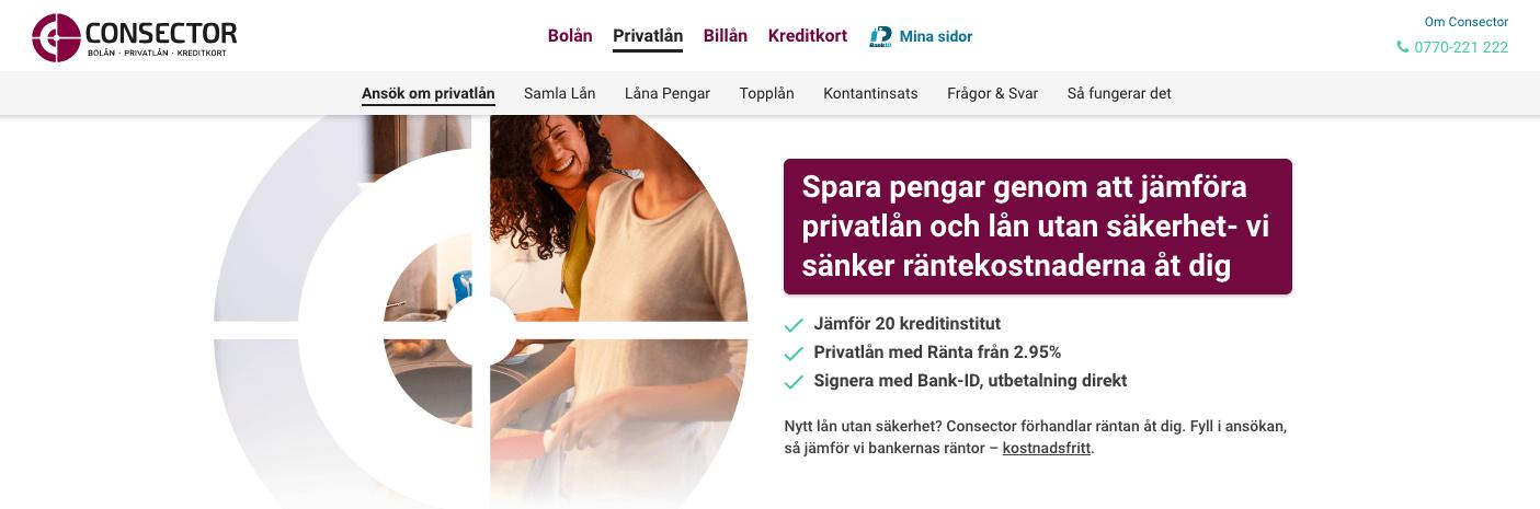 Hos Consector är det lätt att få en översikt på de lån som finns tillgängliga för just dig!