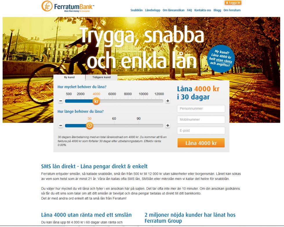 sms lån direkt utbetalning