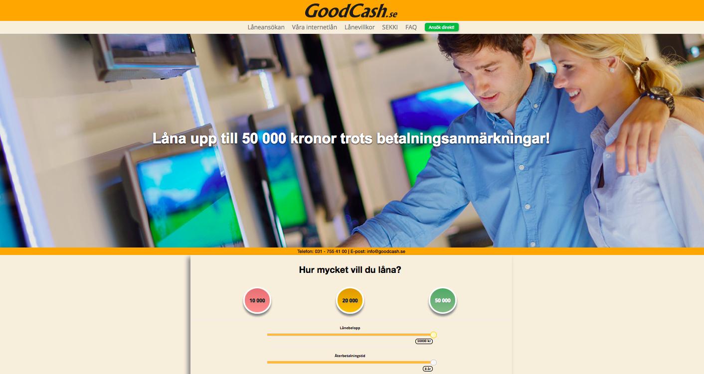 Goodcash tar uc kreditupplysning på sina kunder!
