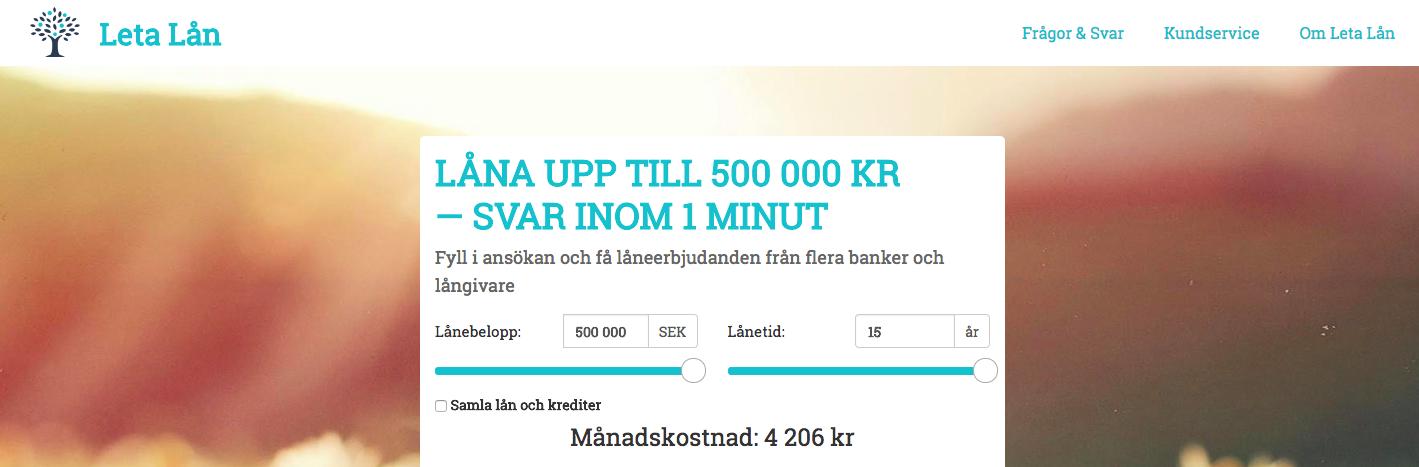 Vilka banker samarbetar Leta Lån tillsammans med?