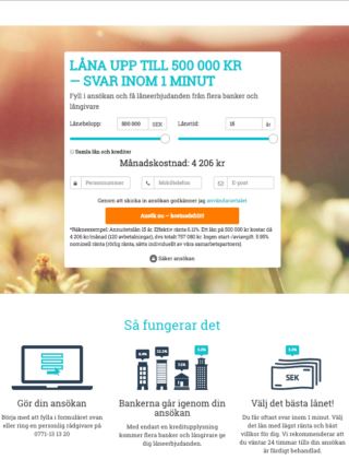 Ta kontakt med Leta Lån via email eller telefon!