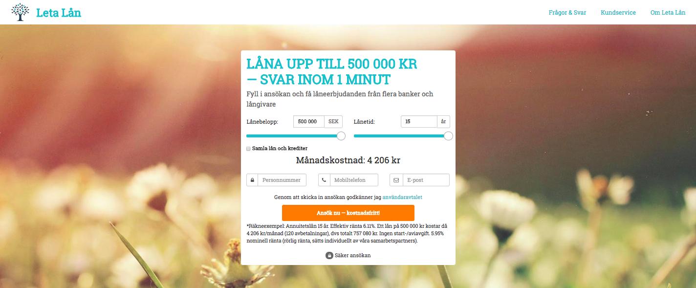 Använder Leta Lån UC vid sina kreditupplysningar?