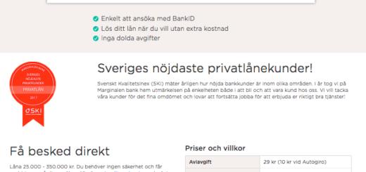 Marginalen Bank erbjuder sina kunder bra förutsättningar på räntan!