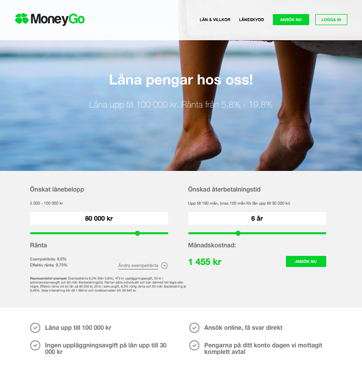 Kom enkelt i kontakt med Moneygo via deras hemsida!