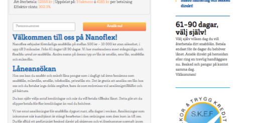 Håll smidig kontakt med Nanoflex och håll dig informerad om dina lånealternativ!