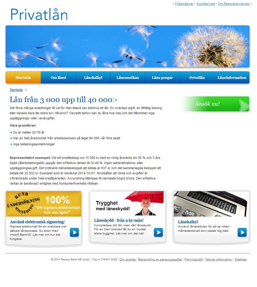www.privatlan.se